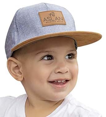 Aslan Original Baby Snapback Hat | Design Fashion Cap | Stylish Infant and Toddler Snapback Flat Brim Hat - Blue - 4-9 Years
