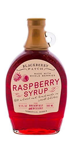 Blackberry Patch Whole Raspberry Syrup Contains Sugar All Natural Handmade In Small Batches | For breakfast pancakes and waffles or drizzled over fresh fruit 12 FL oz.(Whole Raspberry 12 Ounce)