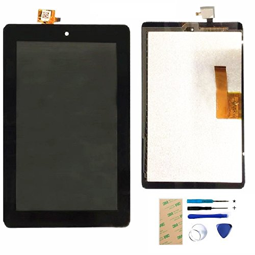 XR Fire 7 (5th Generation 2015 Release SV98LN) LCD Screen + Touch Digitizer Assembly Replacement Tools (NOT 7th Gen, 2017 release & 5th kids edition) by XR