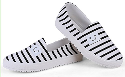 Rayures On Sneakers Slip Mignon Blanc Aisun Sourire Femme fwXqZxt