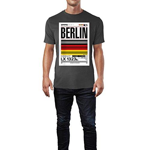 SINUS ART ® Print mit abstrakter Deutschlandflagge – Berlin Herren T-Shirts in Smoke Fun Shirt mit tollen Aufdruck