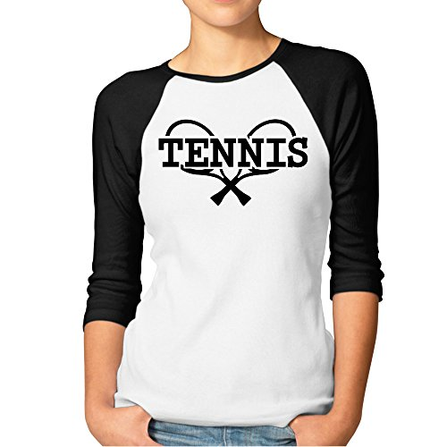 DonSir Tennis Women Baseball Raglan T-shirt Black M