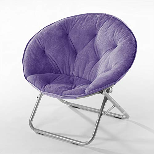 Urban Shop Faux Fur Saucer Chair, Purple