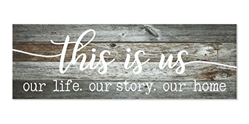 This is Us Our Life Our Story Our Home Rustic Wood Wall Sign 6x18 - Decor Home Gray