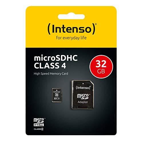 Intenso 3403480 Micro Tarjeta de memoria SD 32 GB grado 4 con SD ...