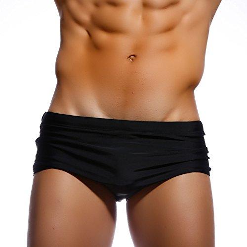 Taddlee Men's Swimwear Sexy Swim Briefs Bikini Board Surf Shorts Boxer Swimsuits (Mens Swim Boxers)