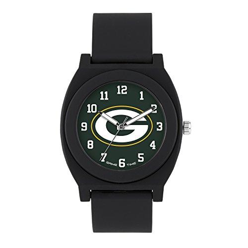NFL Green Bay Packers Mens Fan Series Wrist Watch, Black, One Size