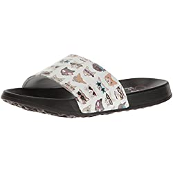 BOBS from Skechers Women's 2nd Take-Pawtopia Slide Sandal, White Cat, 5 M US