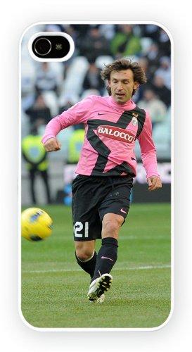 Andrea Pirlo Football iPhone, iPhone 5 5S, Etui de téléphone mobile - encre brillant impression