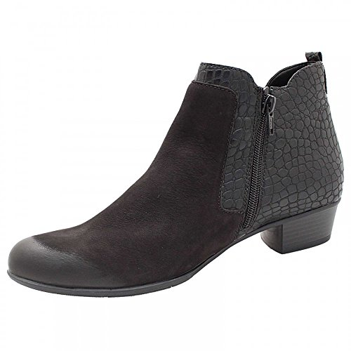 Remonte Low Heel Ankle Boot Black