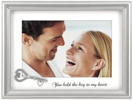Malden You Hold The Key to My Heart Matted Wedding Collection Frame 4-Inch by 6-Inch