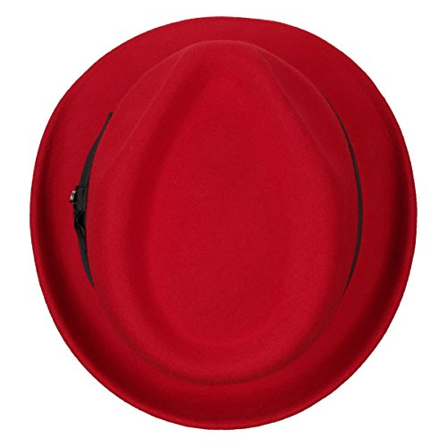 Con Trilby Hombre invierno Sombrero hombre De Mujer Stetson Mujer Grosgain Banda Richmond Verano Rojo 5wTqXx8