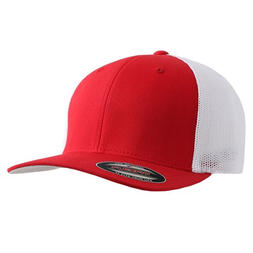 The Original Flexfit Yupoong Mesh Trucker Hat Cap & 2-Tone - Many Colors (One Size, - 7.5 Hat Size