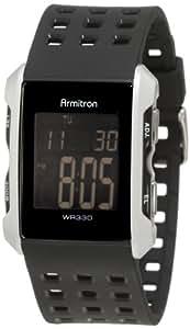Armitron Sport Men's 408177SIL Silver-Tone and Black Chronograph Digital Watch