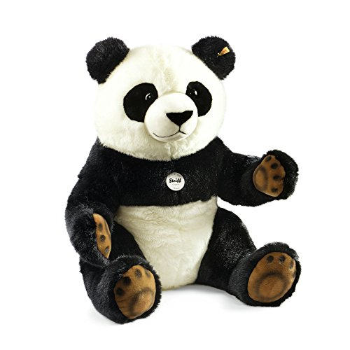 Steiff Pummy Panda – Big 28″ Stuffed Animal from the Gentle Giants Collection – Premium Quality Soft Woven Plush for Ages 2 Years and Up