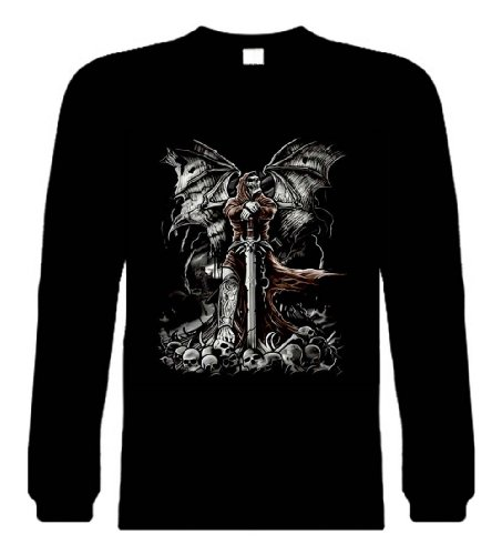 Funny Long Sleeve Size 3X (Gravestone Reaper Skeleton & Skulls) Novelty Shirt (Gravestone Sayings)
