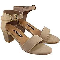 SKOLL Women Suade Block Heels