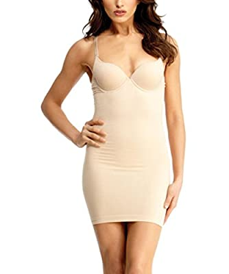 Dame Shaping Slip with Padded Underwire Bra - SlimMe by MeMoi - Classy Shapewear