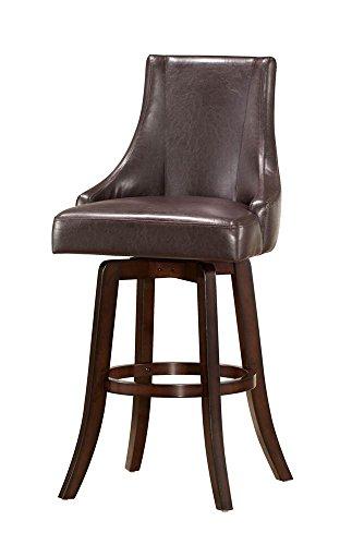 Swivel Bar Chair in Dark Cherry Finish - Set of 2 price