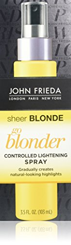 John Frieda Sheer Blonde Go Blonder Lightening Spray, 3.5 Ounce Controlled Hair Lightener, to Gradually Lighten Hair, with Citrus and Chamomile BlondMend Technology (Blonde To Black Hair Before And After)