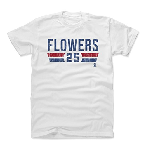 - 500 LEVEL Tyler Flowers Cotton Shirt Large White - Atlanta Baseball Men's Apparel - Tyler Flowers Atlanta Font B
