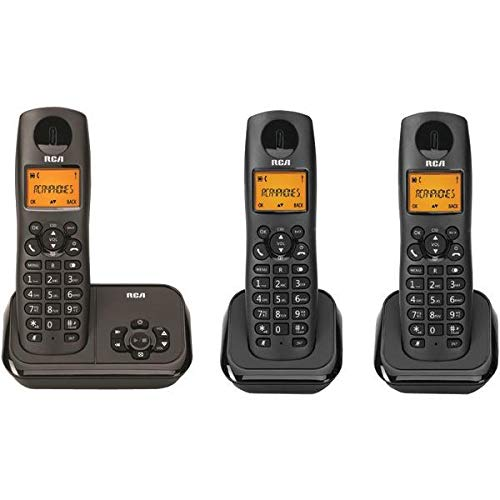 Rca 2162-3bkga Element Series Dect 6.0 Cordless Phone With Caller Id & Digital Answering System (3-Handset System) 7.30 from RCA