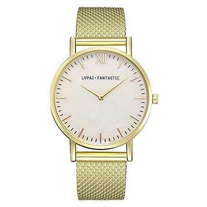 02ff4c4bb5ea MISSWongg Reloj Reloj Analógico para Cuarzo Cuarzo Casual Bisel Acero  Inoxidable Resistente los Golpes diseño Simple Reloj