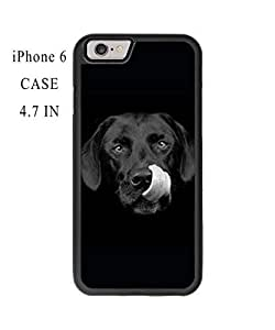 Funny Cute Dog Face Plastic and TPU Case Cover for iPhone 6 - 4.7 Inch (Laser Technology)