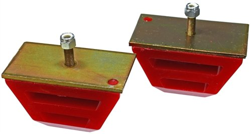 Energy Suspension 9.9109R Universal Bump Stop; Red; Low Profile Competition Style; H-2.5 in.; L-4.5 in.; W-2.5 in.; Incl. 2 Per Set; Performance Polyurethane; ()