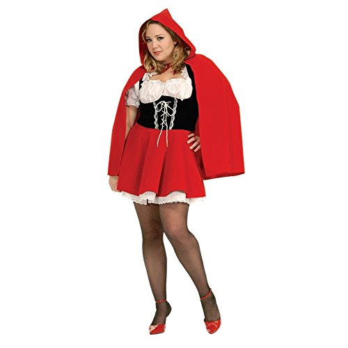 Little Red Riding Hood And Wolf Halloween Costumes (Secret Wishes Full Figure Red Riding Hood Costume)