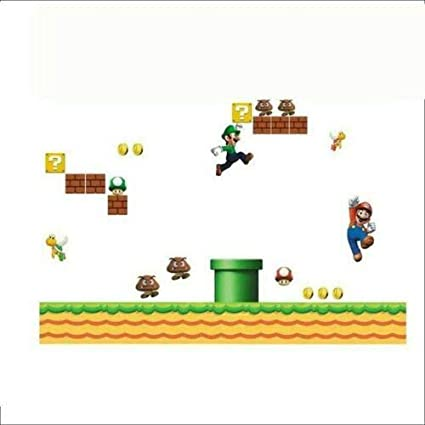 Utopiashi Super Mario Bros ni/ños Removable Wall Sticker Decals Nursery Home Decor Vinyl MUR