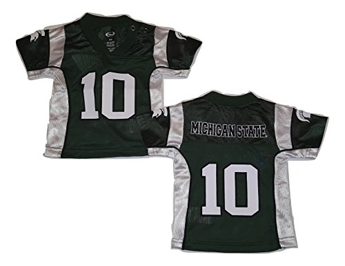 Michigan State Spartans Football Jersey Infant Sizes (0-3 Months, #10 Jersey)