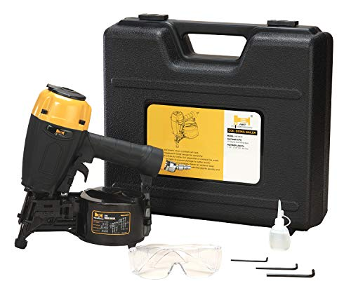HBT HBCN65P 15 Degree Coil Siding Nailer with Magnesium Housing, 1-1/4-Inch to 2-1/2-Inch Plastic/Wire Collated Coil Siding Nails