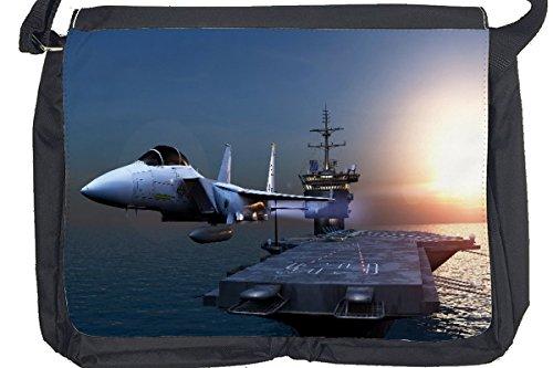 Borsa Tracolla Militare Elemento portante di velivolo del getto Stampato