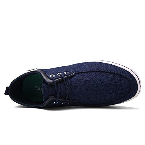 Un Autre Été Hommes Style Classique Toile Chaussures Casual Mode Sneakers Bleu