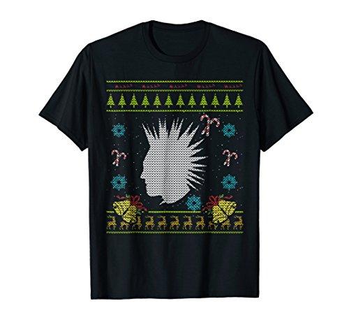Punk Christmas Ugly Sweater Punk Rock T Mohawk Shirt (Punk Ugly Christmas Rock Sweaters)
