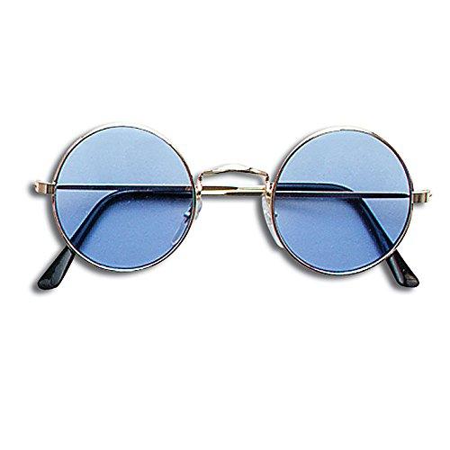 Blue Round Lennon Sunglasses -