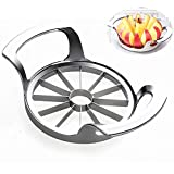 Apple Slicer, Corer, Cutter, Wedger, Divider - Stainless Steel Blade, Sturdy and Firm, Silver With Orange Peeler(12 Slices/Blades)