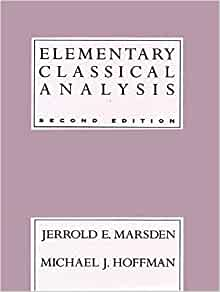Amazon elementary classical analysis 2nd edition amazon elementary classical analysis 2nd edition 9780716721055 jerrold e marsden michael j hoffman books fandeluxe Image collections