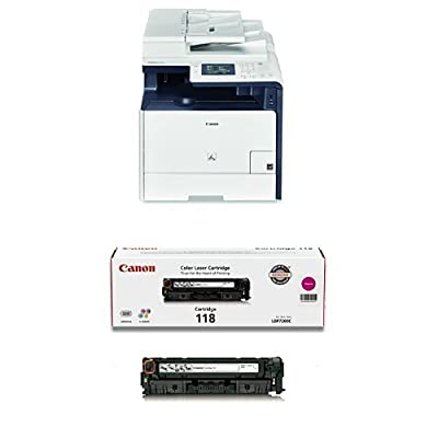 Canon Lasers color imageCLASS MF726Cdw Wireless color Photo Printer with Scanner, Copier & Fax and Canon Original 118 Toner Cartridge - Magenta Bundle