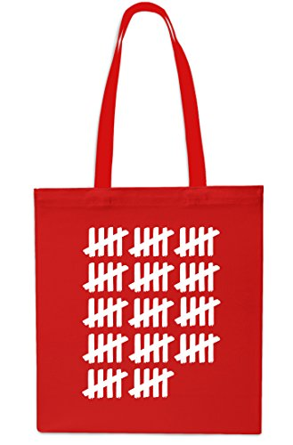 Tally Gym 70th Bag x38cm Small Beach Count Red Shopping Saphire 42cm Birthday Tote 10 litrest pqwA5gw