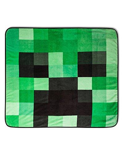 Minecraft Plush Throw Blanket Creeper 53 x 53 Super Soft