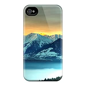 Tpu Fashionable Design Icy Mountains Rugged Case Cover For Iphone 4/4s New