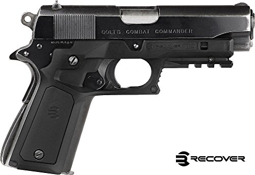 Recover Tactical Cc3P Black Frame with Black and Tan Panels 1911 Grip and Rail System (CC3PBTB)