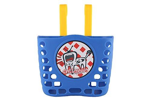 CHILDHOOD Children's Blue Bicycle Basket with Hook, Kids Handlebar Bike Basket