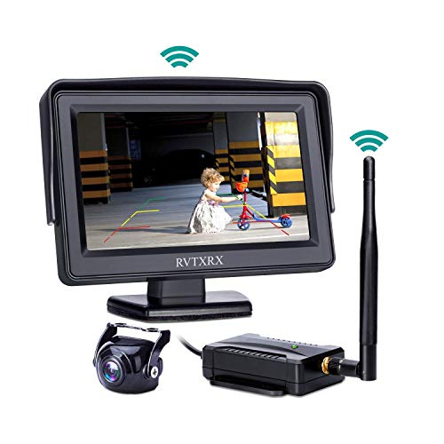 Type Color Camera - Wireless Backup Camera System Kit, 4.3 inch Color Monitor and 170 Wide Angel Waterproof HD Universal Reverse Back up Rear View Car Camera for Ford Jeep, Truck, Van, SUV,Pickup, Trailer, Rv etc.