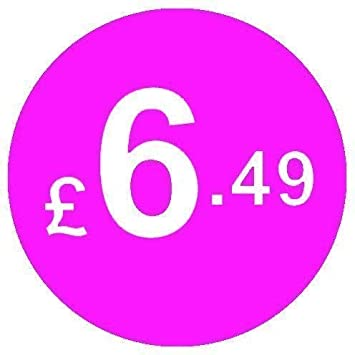 From 99p to /£10 Pack of 200 Pink 20mm Price Stickers//Sticky Labels Pink /£2.50
