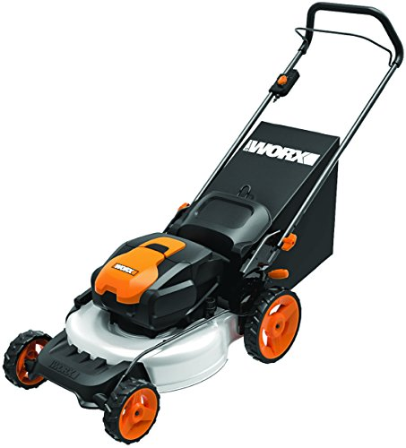 WORX WG772 56V Lithium-Ion 3-in-1 Cordless Mower with IntelliCut, 19-Inch, 2 Batteries and Charger Included by Worx
