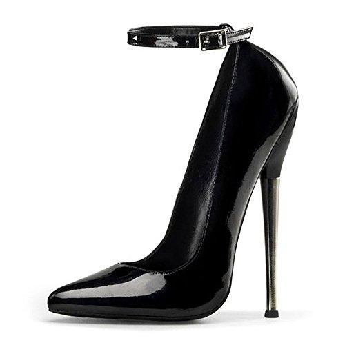 Ankle Strap Pumps black, Damen, Schwarz, Größe 42