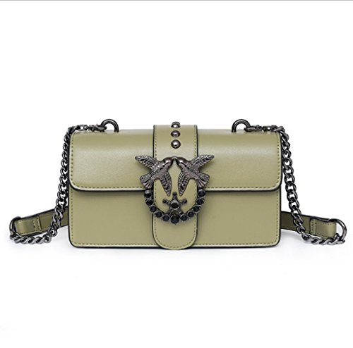 TOOLTOQ Ins Super Bag Lady Fire Bag Chain Fashion Handbag American European Swallow And Messenger Trend Female Green Green Y07rRYpq